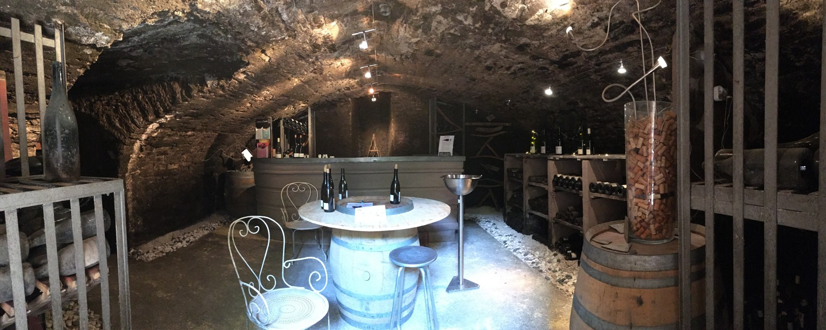 Wine tasting in the vault